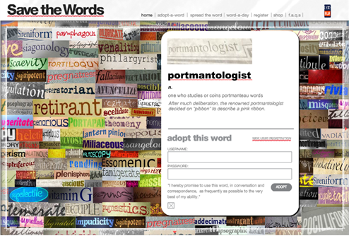 portmantologist: one who studies or coins portmanteau words
