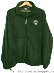 Irish Shamrock Fleece Jacket