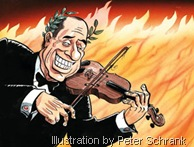 Berlusconi fiddles, Italy burns