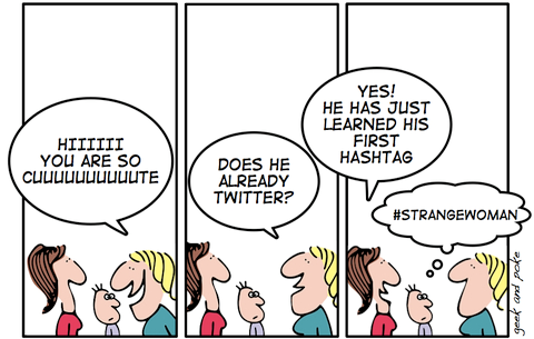 hashtag - vignetta geek&amp;poke 2008