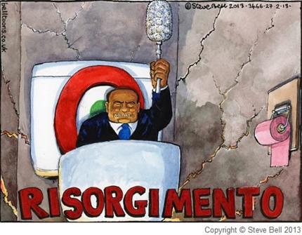 vignetta di Steve Bell per The Guardian