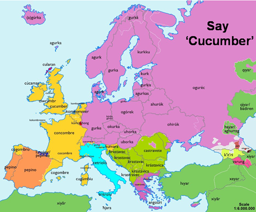 Cucumber map of Europe