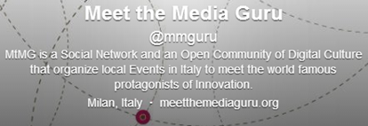 MtMG is a Social Network and an Open Community of Digital Culture that organize local Events in Italy to meet the world famous protagonists of Innovation.