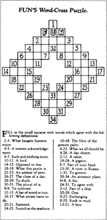 FUN's Word-Cross Puzzle