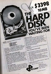 THE HARD DISK YOU'VE BEEN WAITING FOR – 10 MB     $ 3398