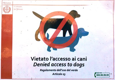 Denied access to dogs