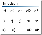 emoticon occidentali