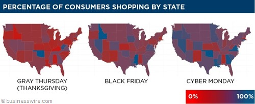grafico: percentage of consumers shopping by state