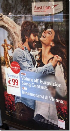 FROM: Volare all'Eurovision Song Contest. TO: Innamorarsi di Vienna.
