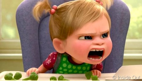 disgusto per i broccoli in una scena del film Inside Out