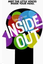 locandina del film INSIDE OUT con lo slogan MEET THE LITTLE VOICES INSIDE YOUR HEAD