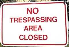 No trespassing 4