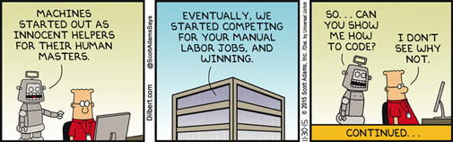 Dilbert – Robot wants to code