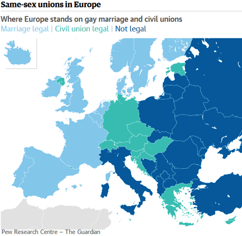 Same-sex unions in Europe – The Guardian