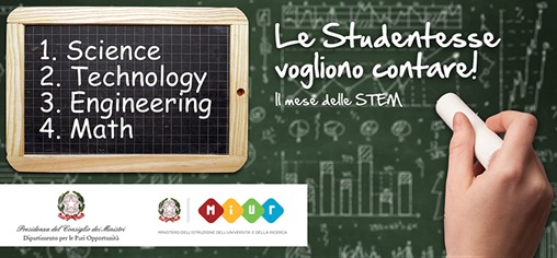 banner del MIUR: Il Mese delle STEM - Science, Technology, Engineering e Math