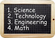 1. Science 2.Technology 3. Engineering 4. Math