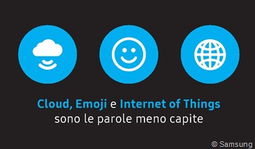 in Italia cloud, emoji e Internet of Things sono le parole meno capite – Samsung Tech Habits