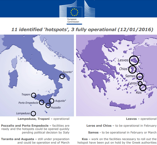hotspots in Italy and Greece as of 12 January 2016 – European Commission