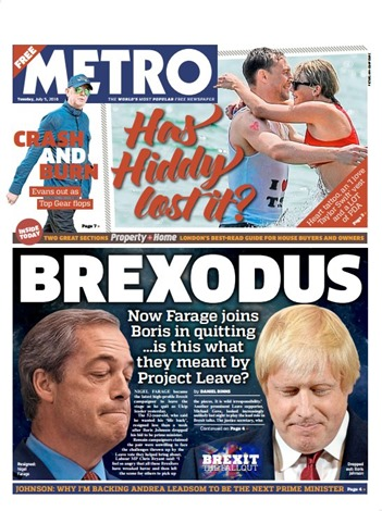 BREXODUS  Now Farage joins Boris in quitting …is this what they meant by Project Leave?
