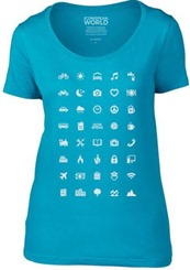 iconspeak t shirt women caribbean blue