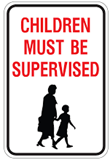 children must be supervised