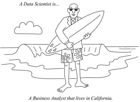 A Data Scientist is… A Business Analyst that lives in California.
