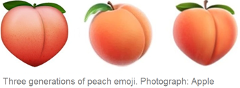 Apple peach emojis