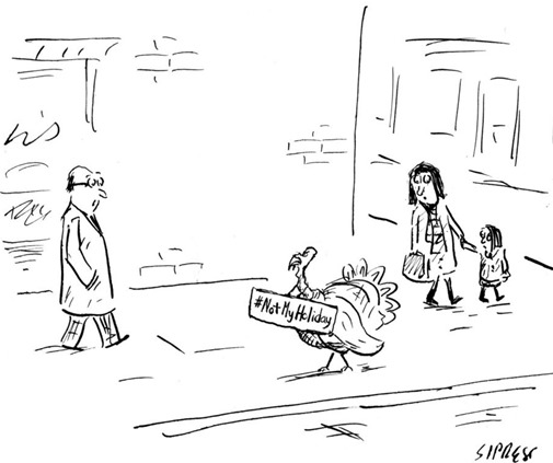 Thanksgiving cartoon - The New Yorker