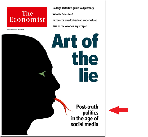 Art of the lie. Post-truth politics in the age of social media