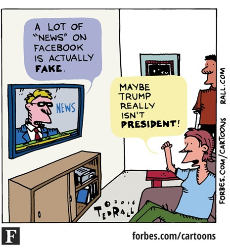 """– A LOT OF """"NEWS"""" ON FACEBOOK IS ACTUALLY FAKE – MAYBE TRUMP REALLY ISN'T PRESIDENT!"""