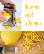 How to zest a lemon
