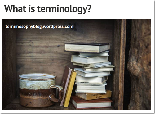 What is terminology? Terminosophy blog