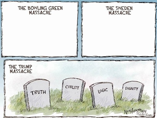 Trump massacres by Nick Anderson