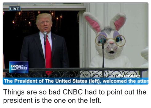 Things are so bad CNBC had to point out the president is the one on the left.