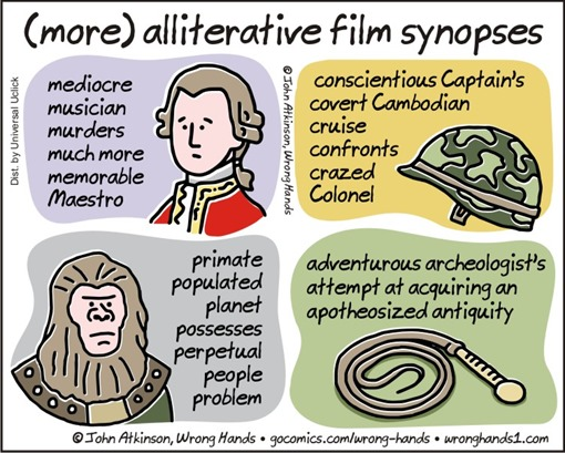 (more) alliterative film synopses