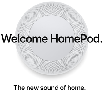 Welcome HomePod. The new sound of home.