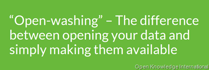 """Open-washing"" – The difference between opening your data and simply making them available"