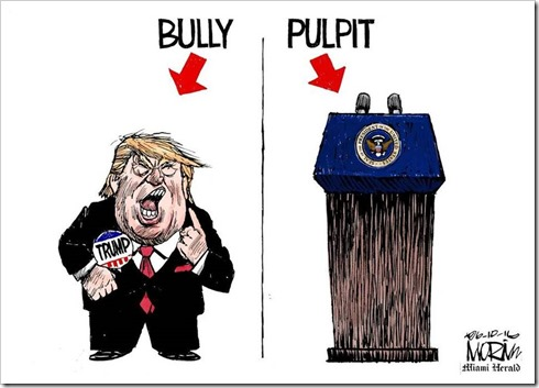 bully pulpit cartoon
