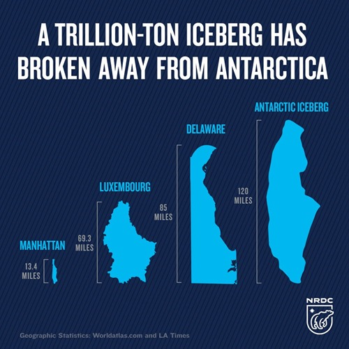 A TRILLION-TON ICEBERG HAS BROKEN AWAY FROM ANTARCTICA