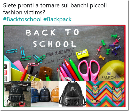 Siete pronti a tornare sui banchi piccoli fashion victims? #Backtoschool #Backpack
