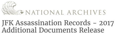 National Archives JFK Assassination Records - 2017 Additional Documents Release