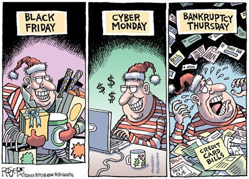 Black Friday... Cyber Monday... Bankruptcy Thursday...