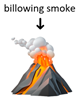 "emoji con esempio di ""billowing smoke"""