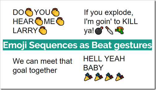 emoji sequences as beat gestures