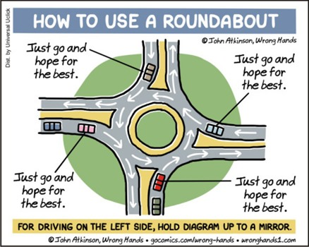"How to use a roundabout: ""just go and hope for the best"""