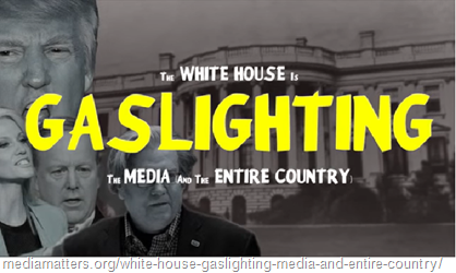 locandina di film con il titolo The White House Is Gaslighting The Media (And The Entire Country)