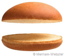 immagine di panino senza hamburger (nothing burger)