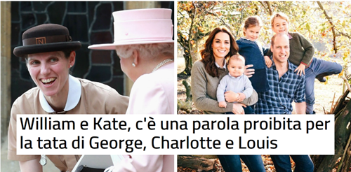 William e Kate, c'è una parola proibita per la tata di George, Charlotte e Louis