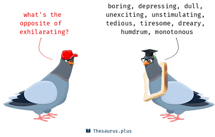 the opposite of exhilarating: boring, depressing, dull, unexciting, unstimulating, tedious, tiresome, dreary, humdrum, monotonous