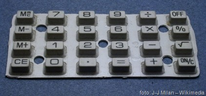 Rubber chiclet calculator keyboard